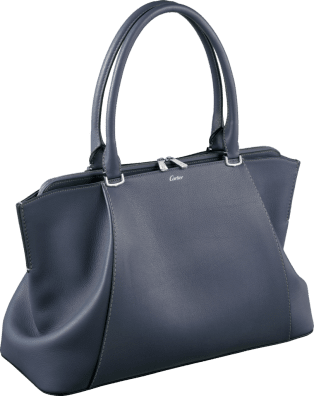 C de Cartier bag, medium model Cordierite-colored taurillon leather, palladium finish