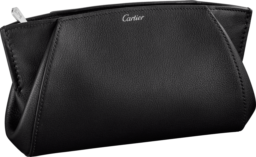 Small Leather Goods C de Cartier clutch bagOnyx taurillon leather, palladium finish