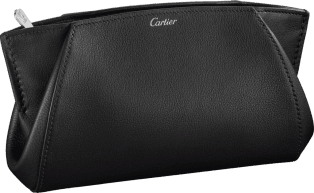 Small Leather Goods C de Cartier clutch bag Onyx taurillon leather, palladium finish