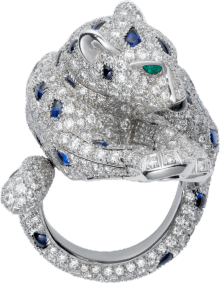 Panthère de Cartier ring Platinum, sapphires, emeralds, onyx, diamonds