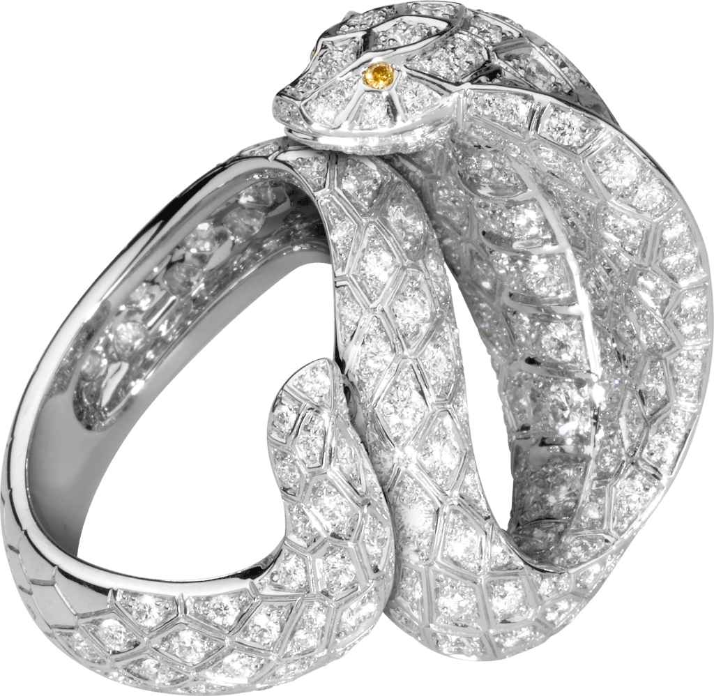 Faune et Flore de Cartier ringPlatinum, brown diamonds, yellow diamonds, diamonds