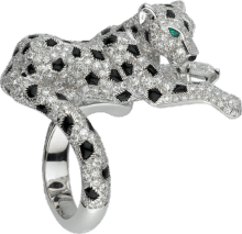 Panthère de Cartier ring Platinum, emeralds, onyx, diamonds