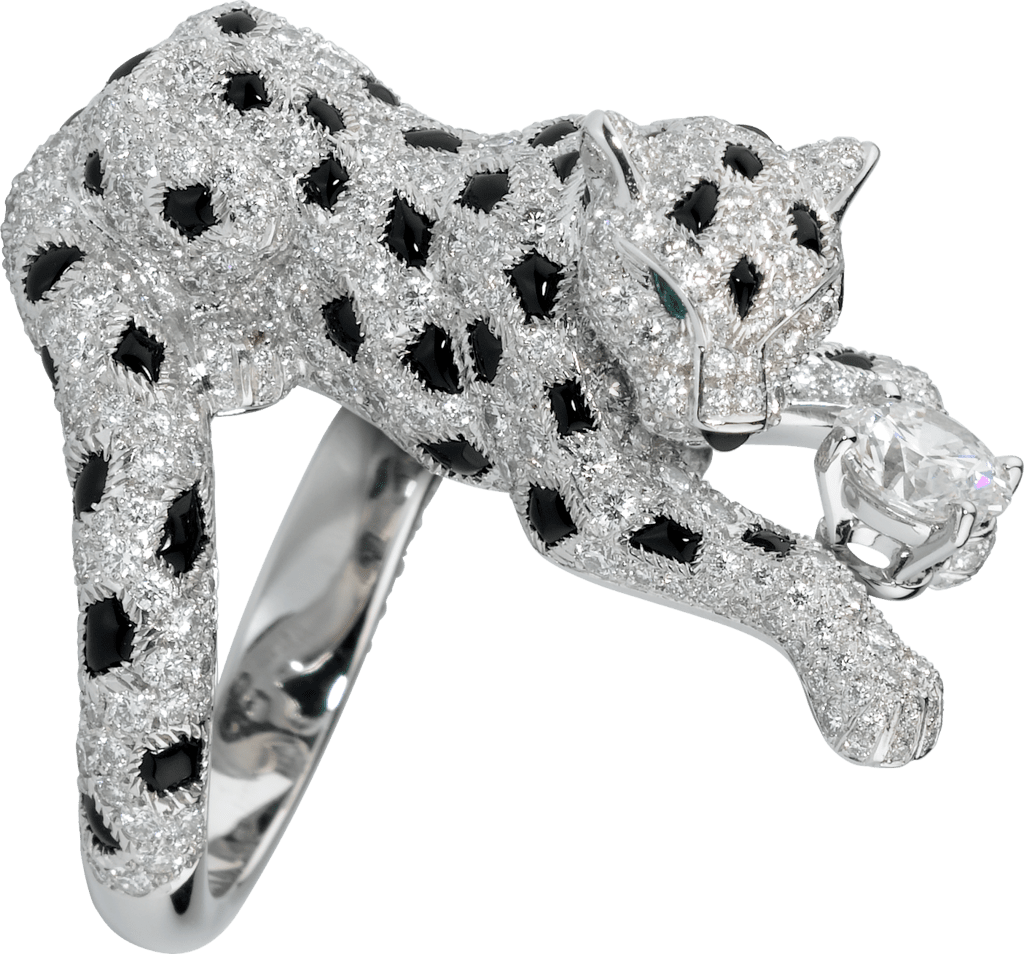Panthère de Cartier ringPlatinum, emeralds, onyx, diamonds
