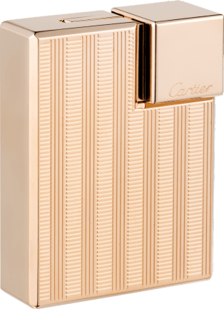 Square braided décor lighter Square braided décor lighter. Pink golden finish. Dimensions: 38 mm x 15.5 mm x 50 mm