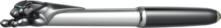 Exceptional black Panthère fountain pen 925 sterling silver, palladium finish