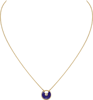 Amulette de Cartier necklace, XS model Yellow gold, lapis lazuli, diamond