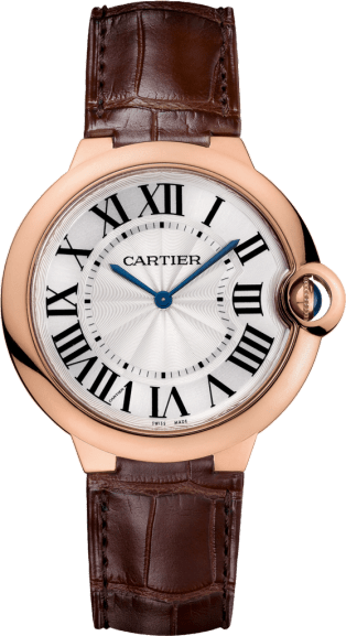 Ballon Bleu de Cartier watch 40mm, hand-wound mechanical movement, rose gold