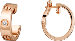 <span class='lovefont'>A </span> earrings Rose gold, diamonds