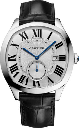 Drive de Cartier watch Steel, leather