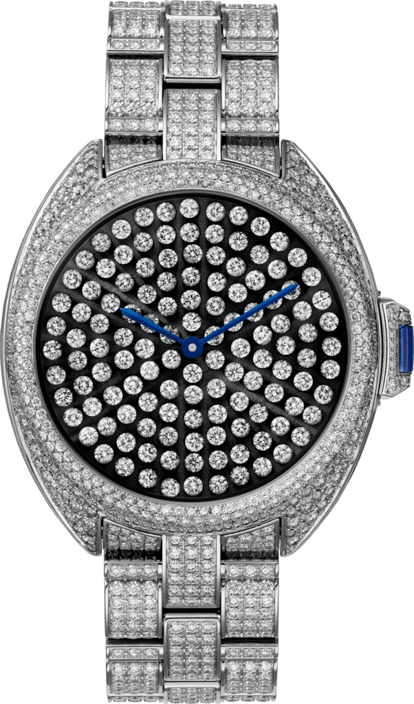 Clé de Cartier watch40mm, automatic movement, white gold, diamonds