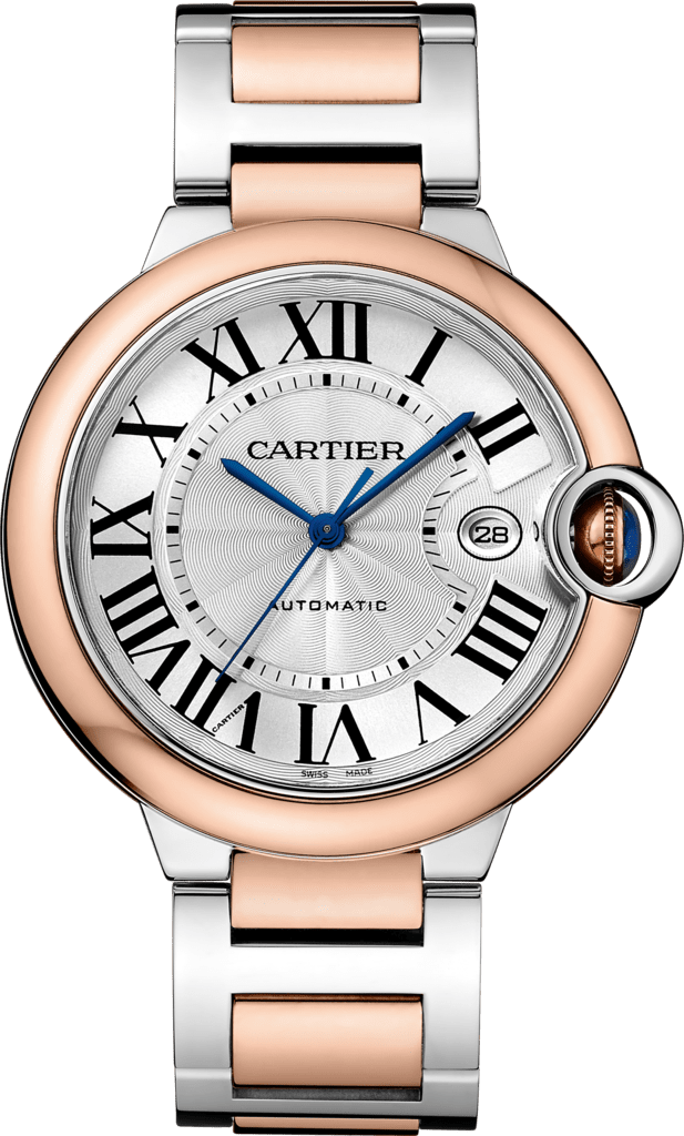 Ballon Bleu de Cartier watch42 mm, 18K pink gold and steel