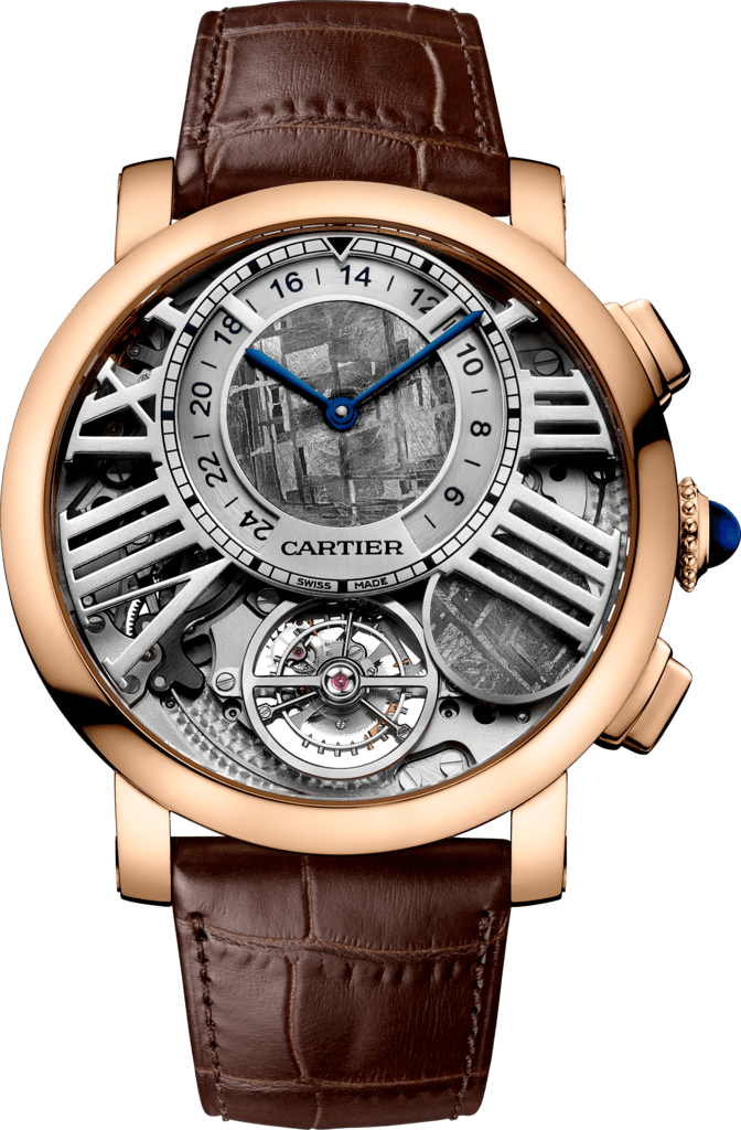 Rotonde de Cartier Earth and Moon watch47 mm, manual, 18K pink gold