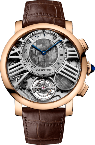 Rotonde de Cartier Earth and Moon watch 47 mm, manual, 18K pink gold