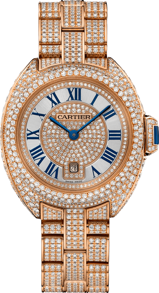 Clé de Cartier watch31 mm, 18K pink gold, diamonds
