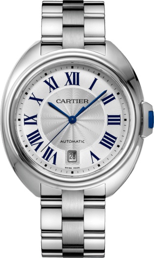 Clé de Cartier watch 40 mm, steel