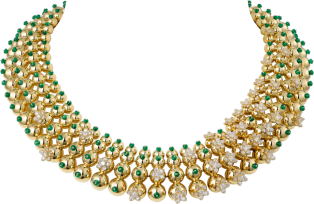 Cactus de Cartier Necklace Yellow gold, emeralds, diamonds