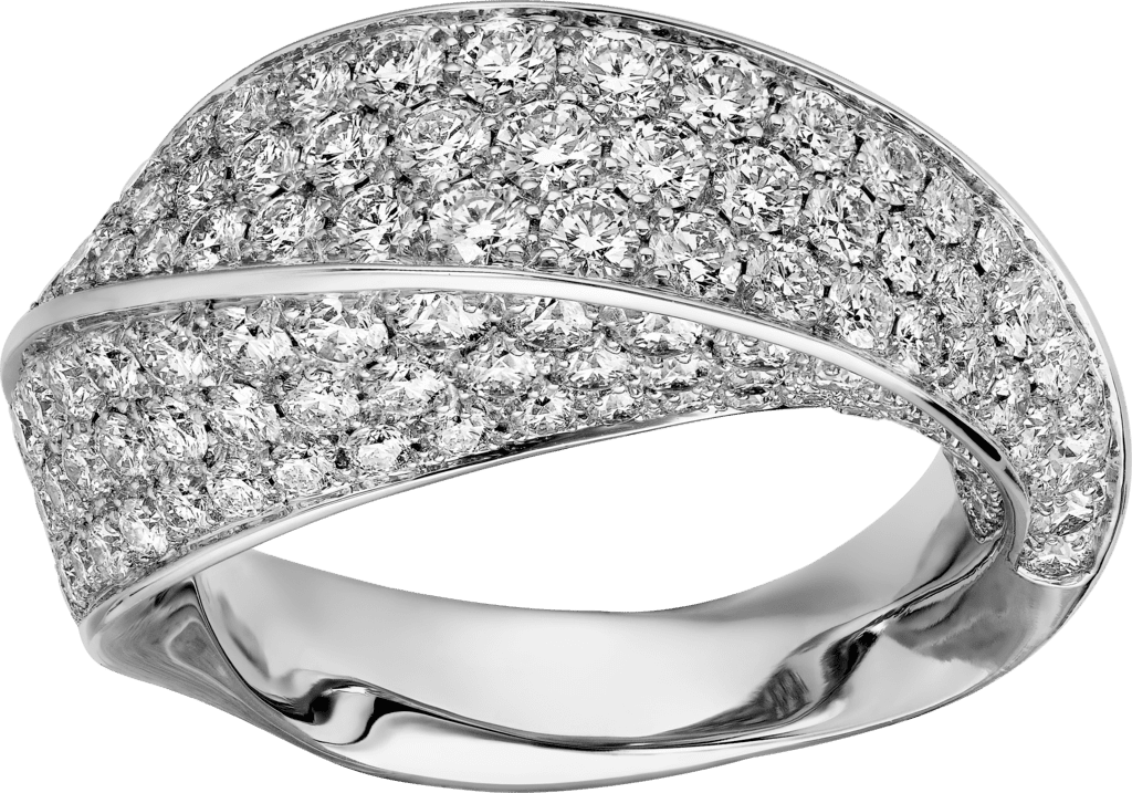Coup d'Éclat de Cartier ringWhite gold, diamonds