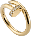 Juste un Clou ring Yellow gold, diamonds