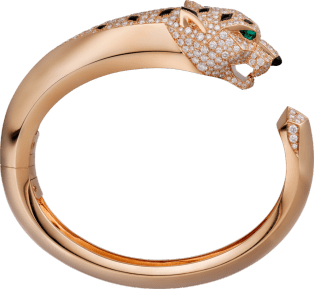 Panthère de Cartier bracelet Pink gold, onyx, emeralds, diamonds