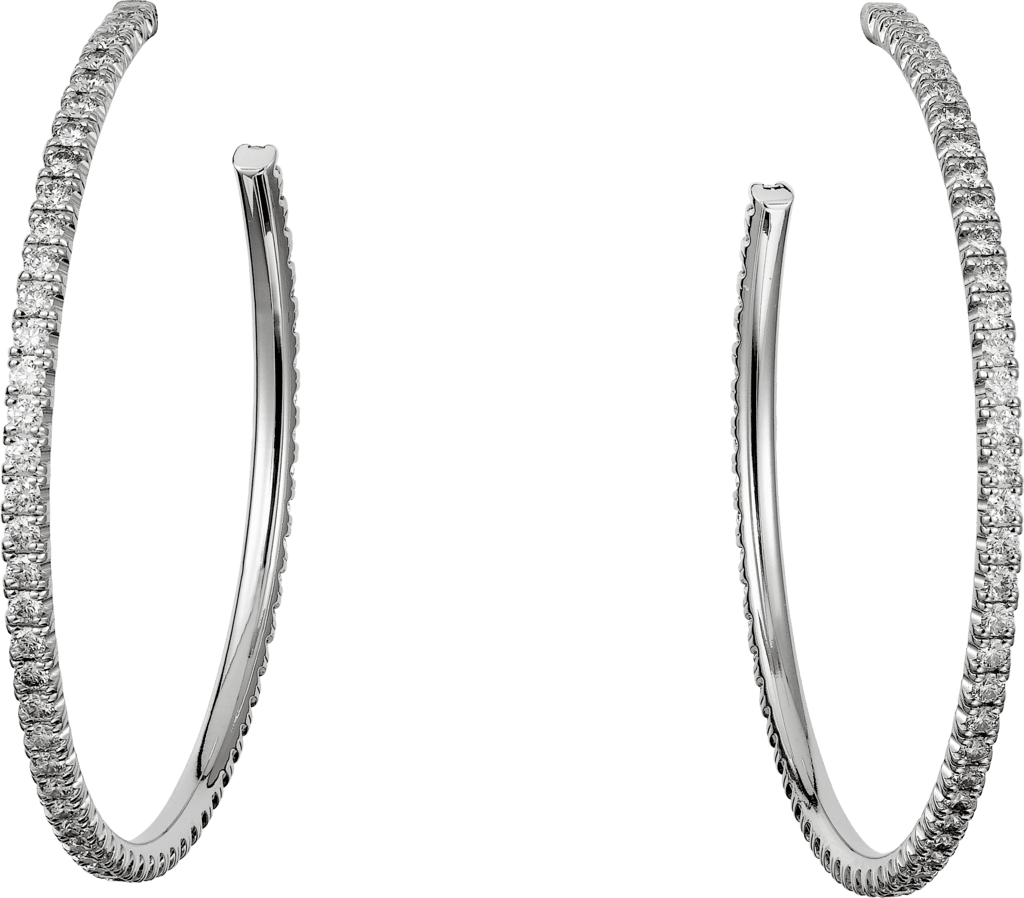 Etincelle de Cartier earrings, large modelWhite gold, diamonds