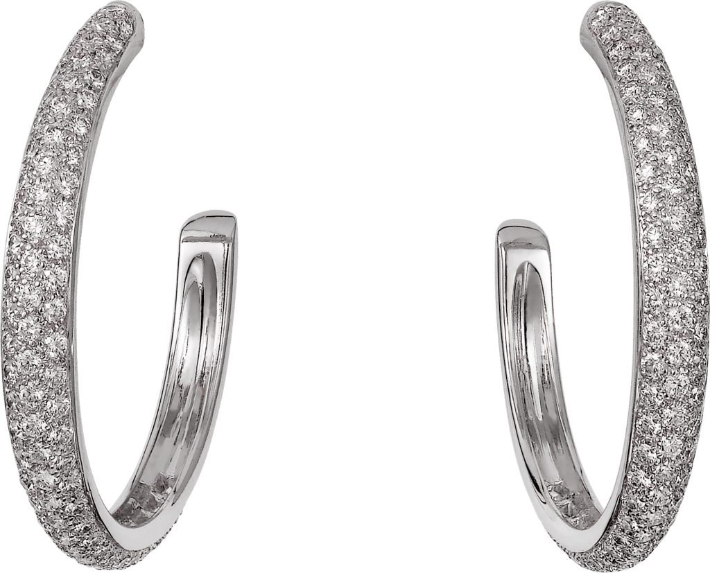 Etincelle de Cartier earrings, medium modelWhite gold, diamonds
