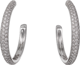 Etincelle de Cartier earrings, medium model White gold, diamonds