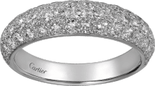 Étincelle de Cartier ring, small model White gold, diamonds