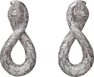 High Jewelry earrings White gold, brown diamonds, pink diamonds, white diamonds