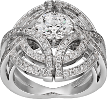 Galanterie de Cartier ring White gold, diamonds