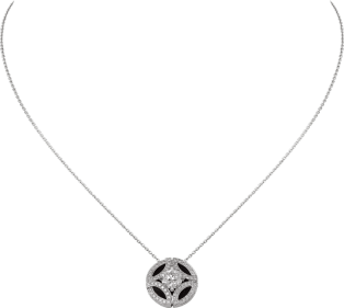 Galanterie de Cartier necklace White gold, black lacquer, diamonds