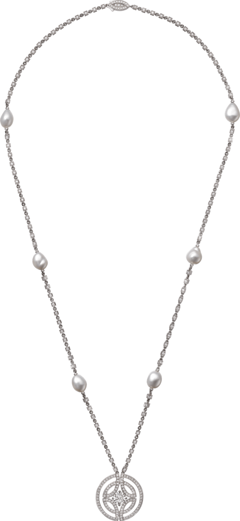 Galanterie de Cartier necklaceWhite gold, cultured pearls, diamonds