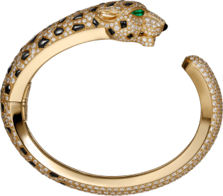 Panthère de Cartier bracelet Yellow gold, emeralds, onyx, diamonds