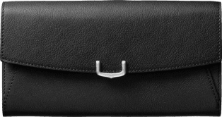 Small Leather Goods C de Cartier, international wallet Onyx taurillon leather, palladium finish