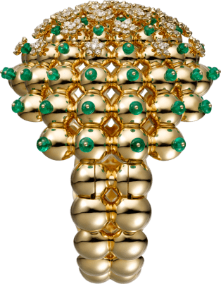 Cactus de Cartier bracelet Yellow gold, emeralds, diamonds