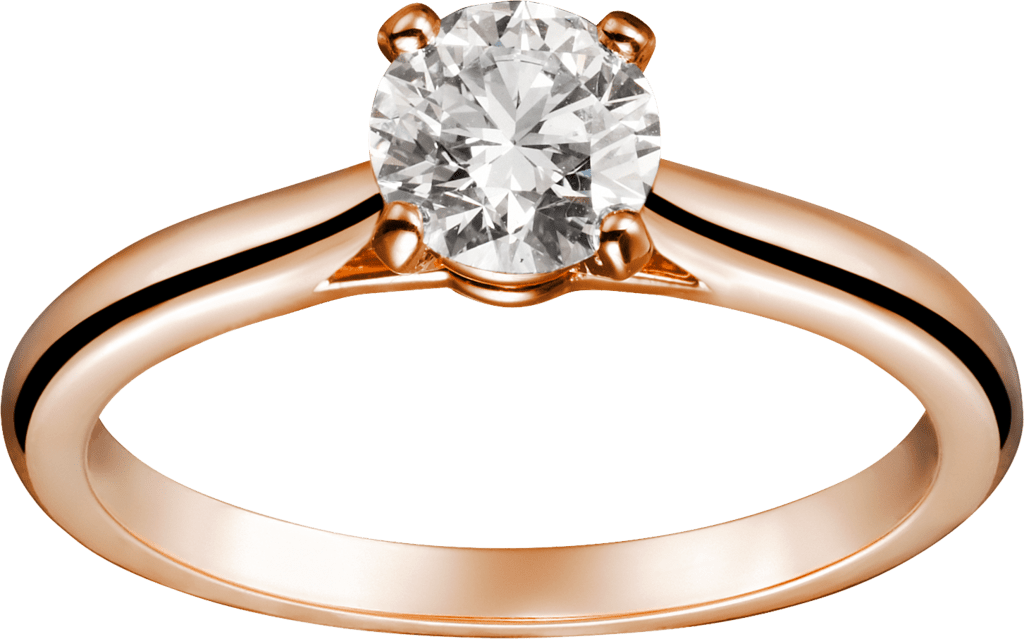 1895 solitaire ringPink gold, diamond