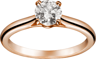 1895 solitaire ring Pink gold, diamond