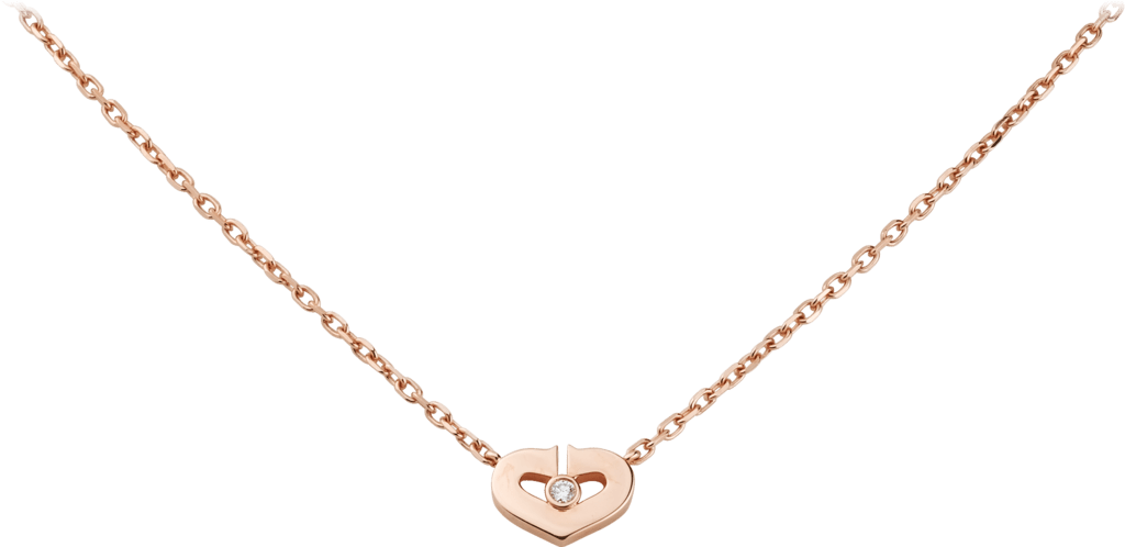 Symbols necklacePink gold, diamonds