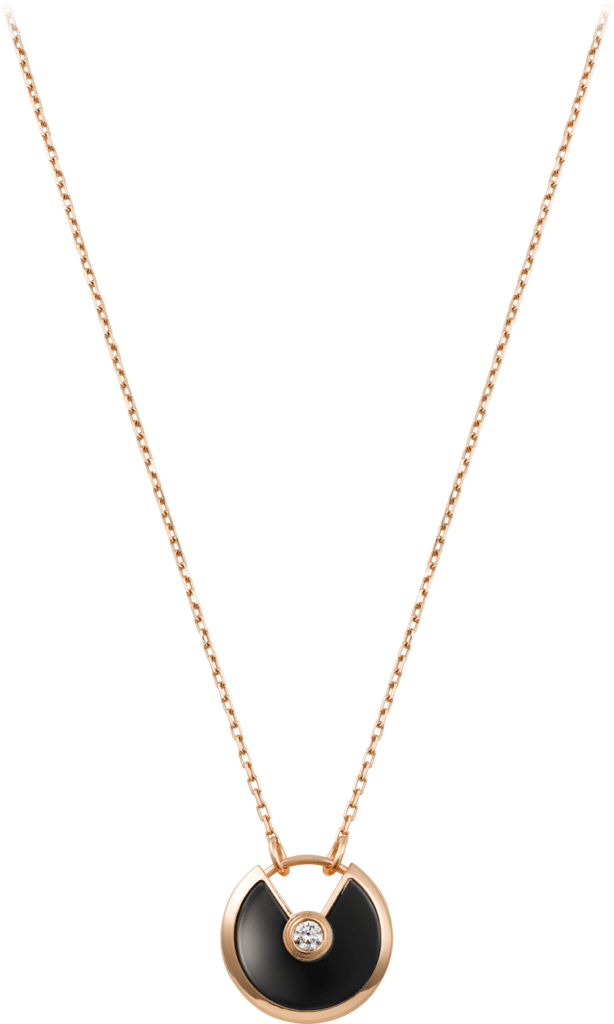 Amulette de Cartier necklace, SMPink gold, onyx, diamond