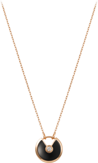 Amulette de Cartier necklace, SM Pink gold, onyx, diamond