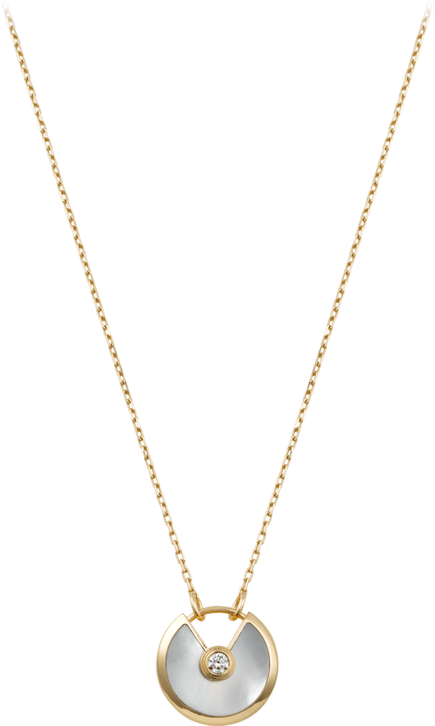 Amulette de Cartier necklace, small modelYellow gold, white mother-of-pearl, diamond