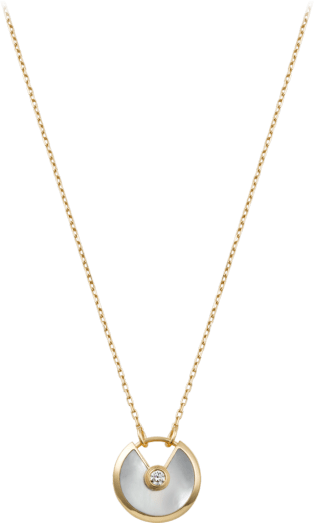 Amulette de Cartier necklace Yellow gold, white mother-of-pearl, diamond