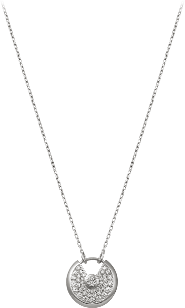 Amulette de Cartier necklace, small modelWhite gold, diamonds