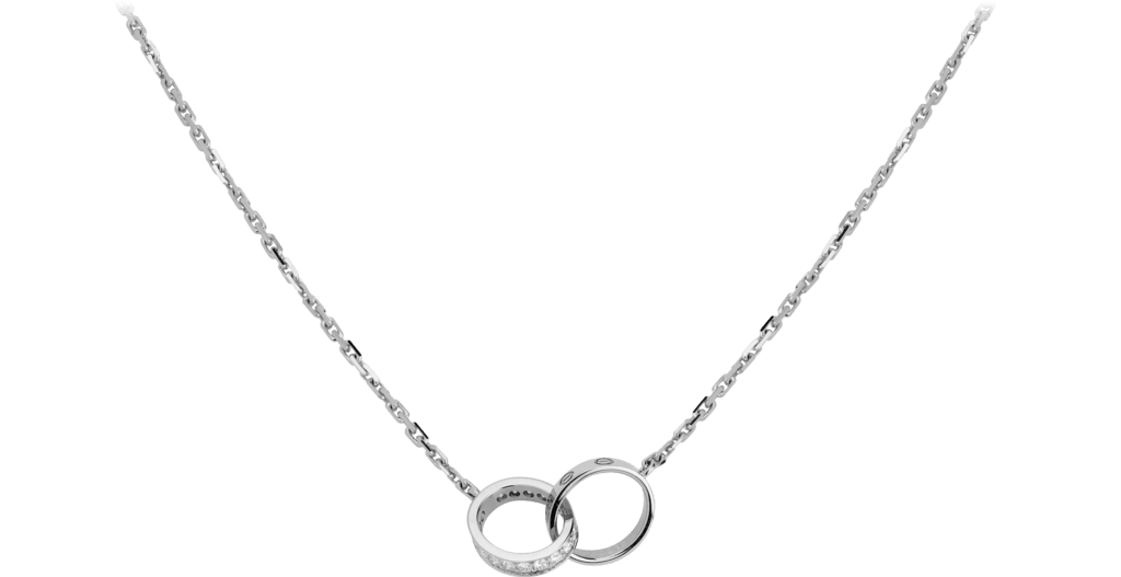 Love necklace, diamondsWhite gold, diamonds