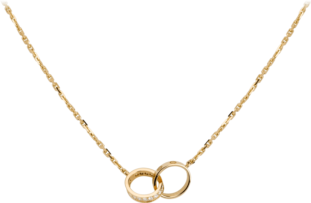 Love necklace, diamondsYellow gold, diamonds