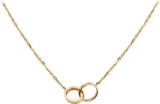 Love necklace, diamonds Yellow gold, diamonds