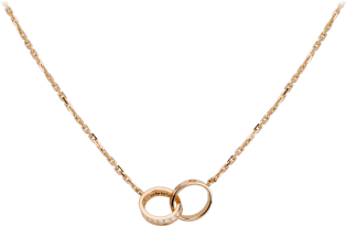 <span class='lovefont'>A </span> necklace, diamonds Pink gold, diamonds