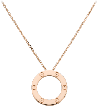 <span class='lovefont'>A </span> necklace Pink gold