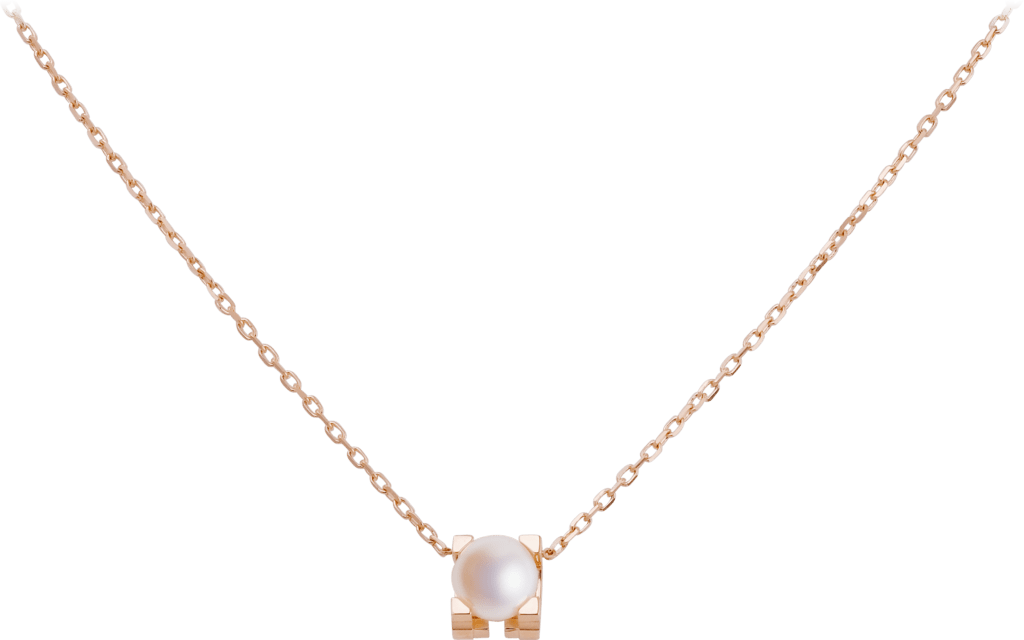 C de Cartier necklacePink gold, pearl