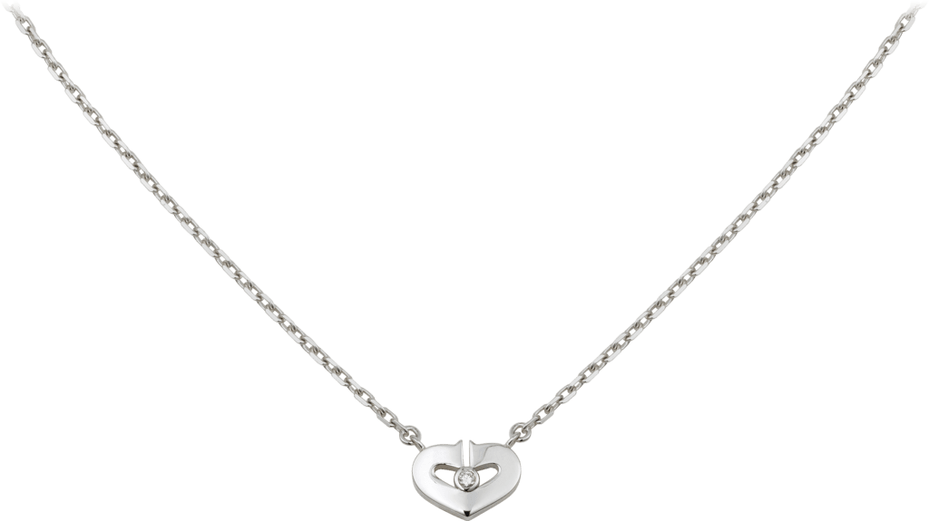 Symbols necklaceWhite gold, diamond
