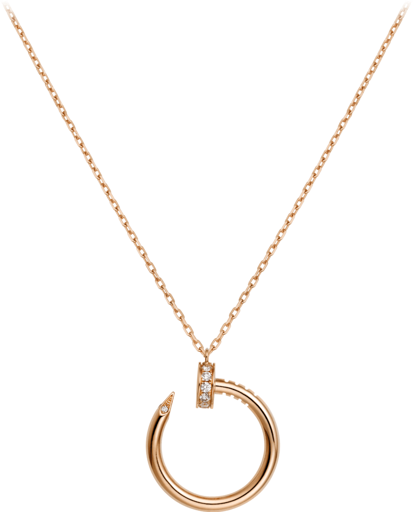 Juste un Clou necklacePink gold, diamonds